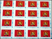 LTTE logo is among the designs used by the La Poste stamps