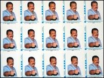 LTTE leader's picture on La Poste stamps