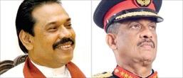 Mahinda Rajapaksa and Sarath Fonseka