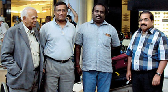 A four member TNA delegation arrived in South Africa to take part in the centenary celebrations of the ruling African National Congress. TNA leader, R. Sampanthan, M.A. Sumanthiran, Selvam Adaikalanathan and Suresh Premachandran soon after their arrival.