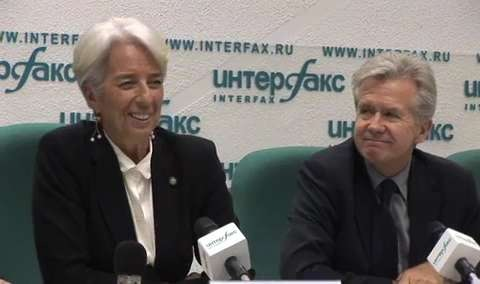 Lagarde and  spokesman, answers on Malawi, Sri Lanka, Ukraine not shown