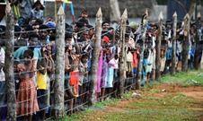 Military supervised internment camp in Vavuniyaa (Photo: The Times, UK)