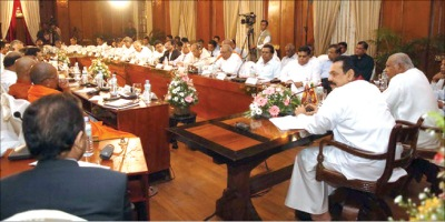 A damp squib: The All Party Conference summoned by Rajapaksa in 2006 Picture courtesy: www.asiantribune.com