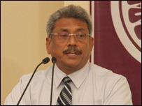 Sri Lankan defence secretary Gotabaya Rajapaksa