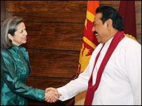 Maria Otero met president Rajapaksa
