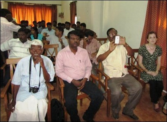 A section of participants at the memorial event in Jaffna