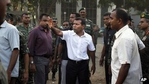 Mr Nasheed says he had no choice but to resign