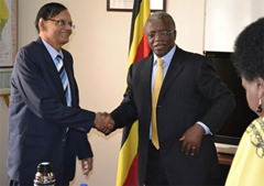 G.L met Uganda Prime Minister Amama Mbabazi