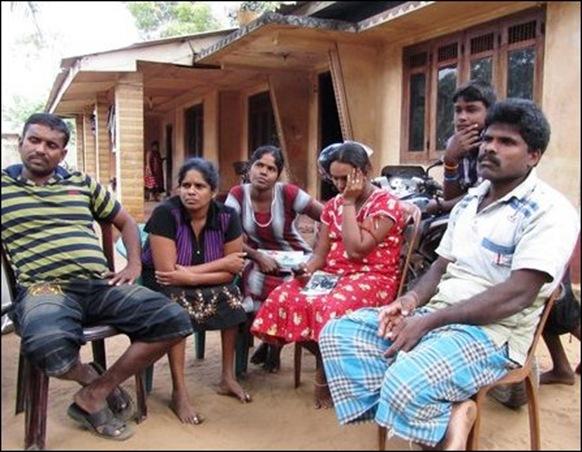 The family of Nesaraja in Chaavat-kaddu, Aanaikkoaddai