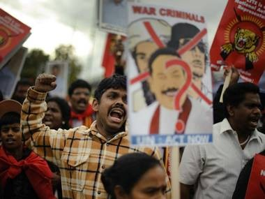 Tamil activists demonstrate outside the UN's Geneva headquarters last September AFP/Getty Images