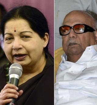 Tamil Nadu Chief Minister Jayalalithaa and DMK president M. Karunanidhi want India to back the United States-backed resolution seeking probe into Sri Lanka war crimes. File photos