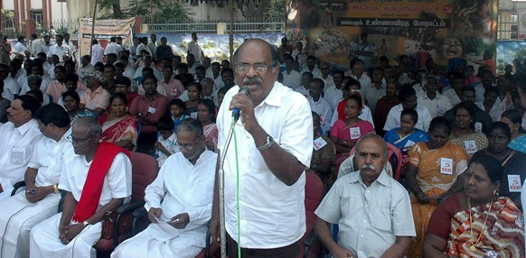 Thaamarai C Mahendran, the Tamil Nadu state secretary of the CPI