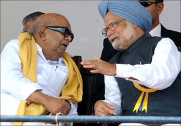 DMK and other parties, Prime Minister Manmohan Singh