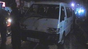 On Saturday, a white van raid was foiled - and filmed