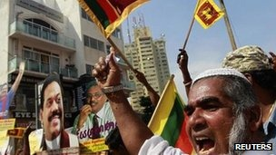 Several marches have been held in Sri Lanka to protest against the resolution