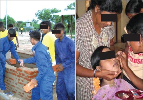 Ex-LTTE combatants undergoing a series of vocational training activities. Photos courtesy Bureau of the Commissioner General for Rehabilitation