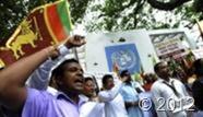 Sri Lankan demonstrators protest outside the UN office in Colombo in 2010 (AFP/File, Ishara S.Kodikara)
