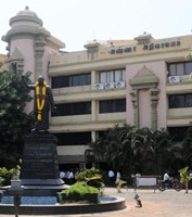 """The Hindu A file photo of Anna Arivalayam, the DMK's headquarters in Chennai. The party will discuss on March 20 on the issue of """"India supporting the resolution on Sri Lankan Army's war crimes against Ealam Tamils""""."""