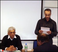 [R-L] Hyrbyair Marri, Baloch Political leader and Saleh Mamon, Chair