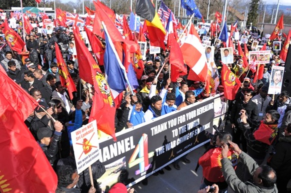 Thousands gather in Geneva denouncing deceptive deliberations UNHRC 2012
