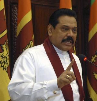 AP - Sri Lanka President Mahinda Rajapaksa