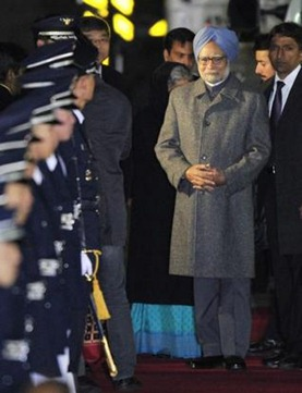 AP Prime Minister Manmohan Singh walks down the red carpet on his arrival at the airbase in Seoul on Saturday. He will take part in the nuclear security summit,to be held on March 26 and 27, to discuss ways of protecting nuclear materials and facilities.