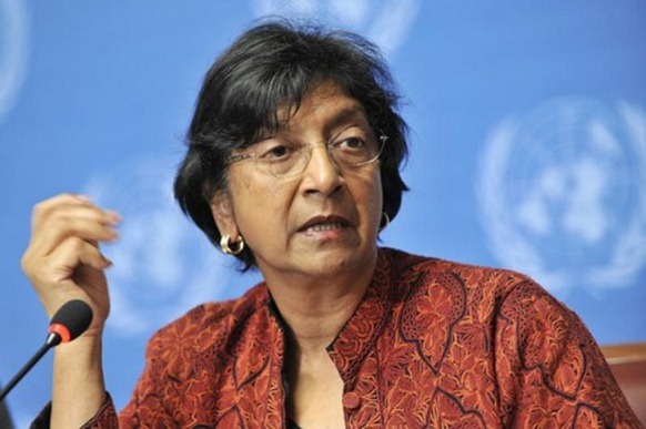 The UN High Commissioner for Human Rights Navi Pillay