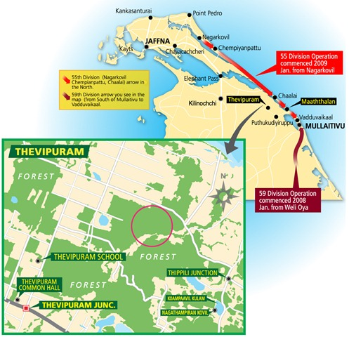 Theavipuram where alleged mass rape occurred (Map Courtesy: TAG)
