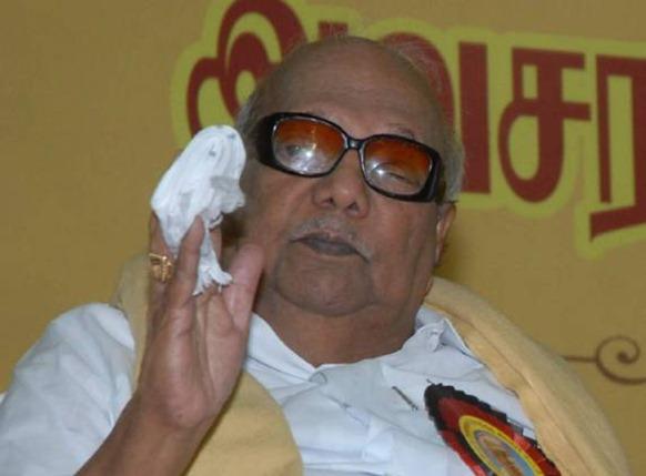 DMK president M. Karunanidhi