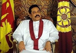 Sri Lankan President Mahinda Rajapksa.