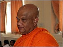 Ven. Pahalagama Somaratana, chief monk of Thames Buddhist Vihara