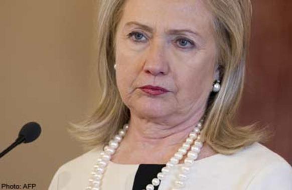US Secretary of State Hilary Clinton AFP