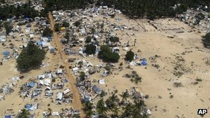 Heavy fighting took place in Sri Lanka towards the end of the war in 2009