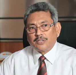 Defense secretary Gotabhaya Rajapaksa