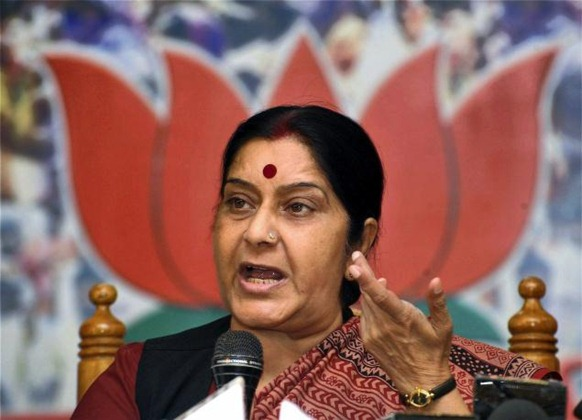 Leader of Opposition in the Lok Sabha Sushma Swaraj. Photo: PTI