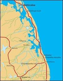 Ampaa'rai - Batticaloa border