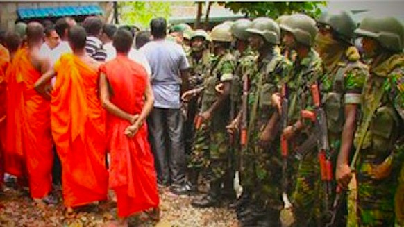 Image courtesy BBC - The storming of the Dambulla Mosque