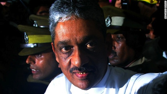 former military commander of Sri Lankan Army and common opposition's presidential candidate General Sarath Fonseka - CNN