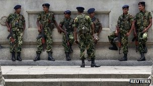 The Sri Lankan army defeated Tamil Tiger rebels in 2009
