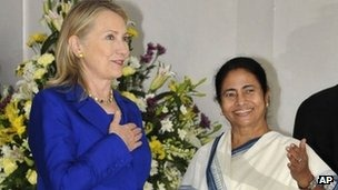 Ms Banerjee and Mrs Clinton met for nearly one hour on Monday