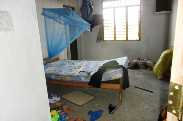 The bedroom of the victim has been searched by the killer squad
