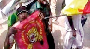 Tiger flag at UNP May Day rally in Jaffna - Whodunit?