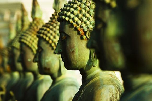 buddha_statues_gangaramaya - Photo courtesy Hemant Buch via JDS