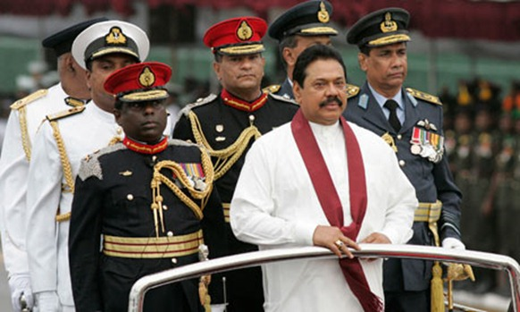 Sri Lankan president Mahinda Rajapaksa, who is due to dine with the Queen during her jubilee celebrations. Photograph: Chamila Karunarathne/AP