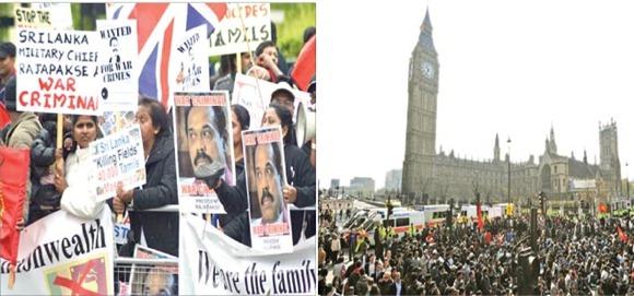 Thousands of Tamil Diaspora members were mobilsed to mar President Rajapaksa's visit to London.