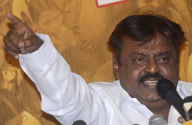 DMDK founder Vijayakant. File photo  - Hindu