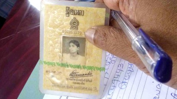 The National Identity Card was introduced in Sri Lanka in 1972 - BBC
