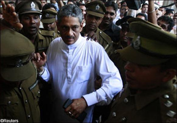 Sri Lanka's former army chief Sarath Fonseka