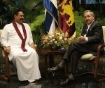 Castro meets Mahinda Rajapaksa