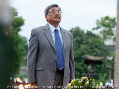 Sri Lanka's defense secretary is known for his vitriolic outbursts: Reuters